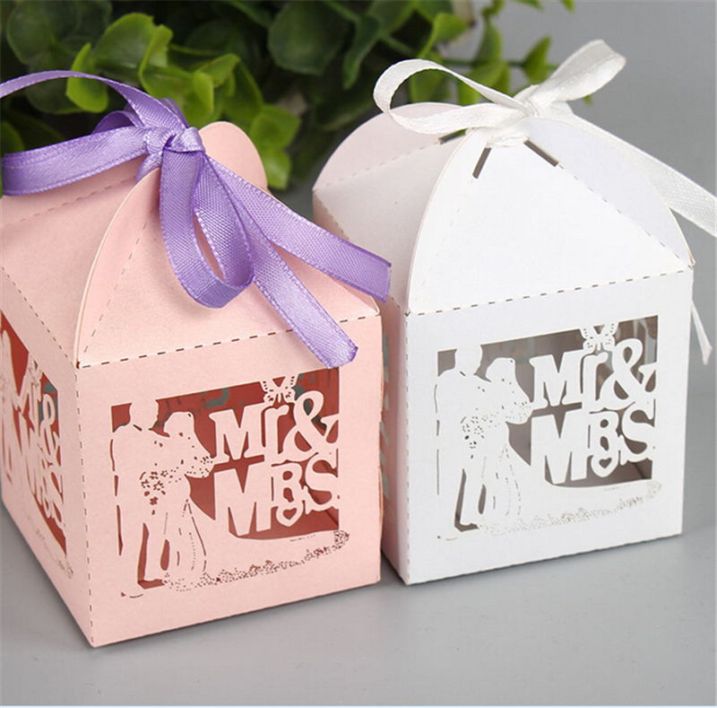 Aliexpresscom Buy White Wedding Favors And Gifts Box Bride Mr