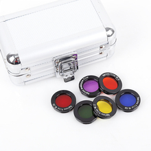 """Angeleyes 1.25"""" Color Astro Filters Set (6 pieces) for Astronomical Telescopes Ocular Lens Planets Nebula Filter SkyGlow"""