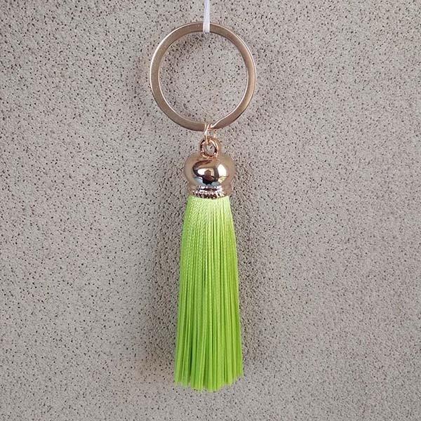 Фото новое модное женское кольцо для ключей с бахромой #16022 цена