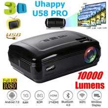 10000 Lumens 1080P Mini Projector 3D LED Home Cinema Theater