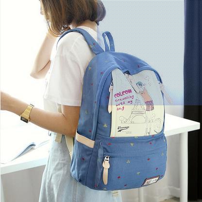 ФОТО Fashion Women School Backpacks Bag New Female Canvas Backpack Flower Printing Backpack Preppy Style Women School Bags Mochilas