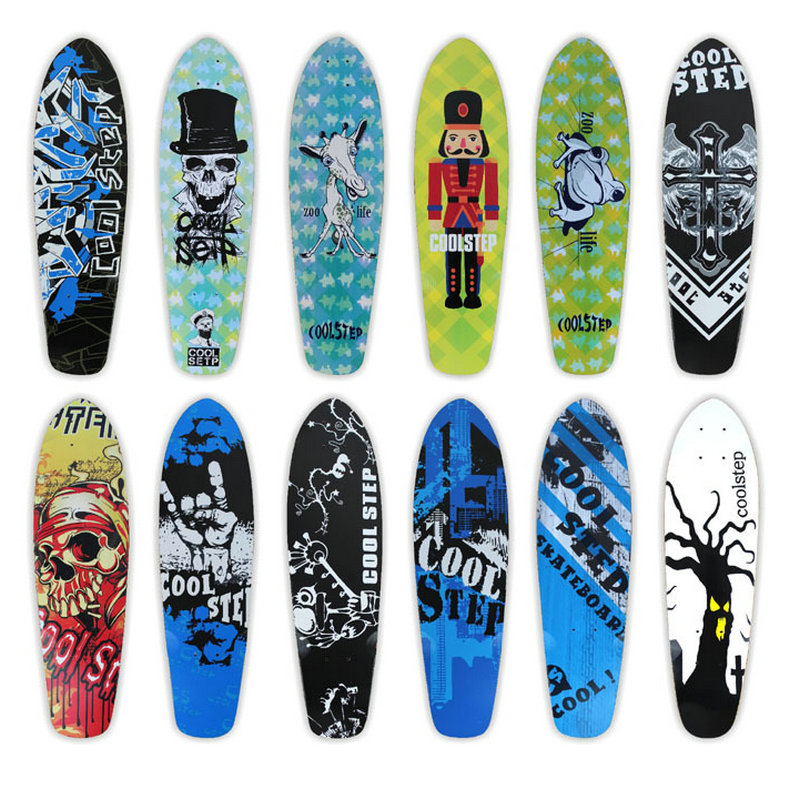 Free Shipping 26inch Skateboard Deck Canadian Maple Fish Board Deck Single Rocker Deck Skateboard Deck цена