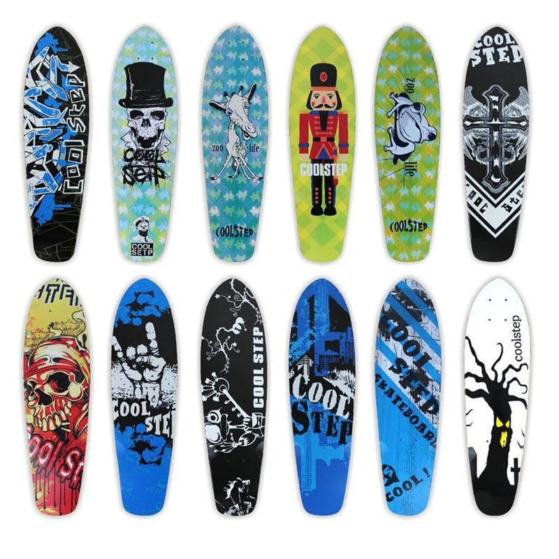 Free Shipping 26inch Skateboard Deck Canadian Maple Fish Board Deck Single Rocker Deck Skateboard Deck