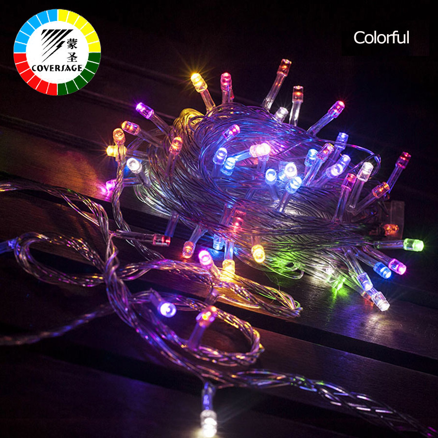 Coversage 10M 100 Led String Garland Christmas Tree Fairy Light Luce Waterproof Home Garden Party Outdoor Holiday Decoration