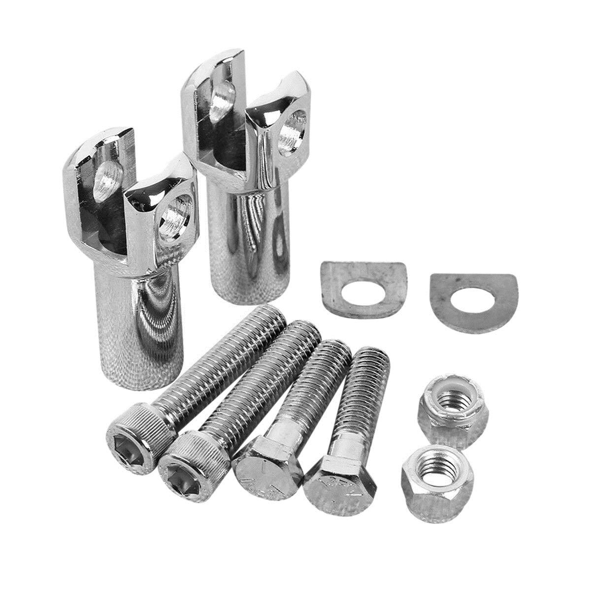 Passenger Foot Peg Supports Mounts Clevis Kits Fits For Harley 2000-2018