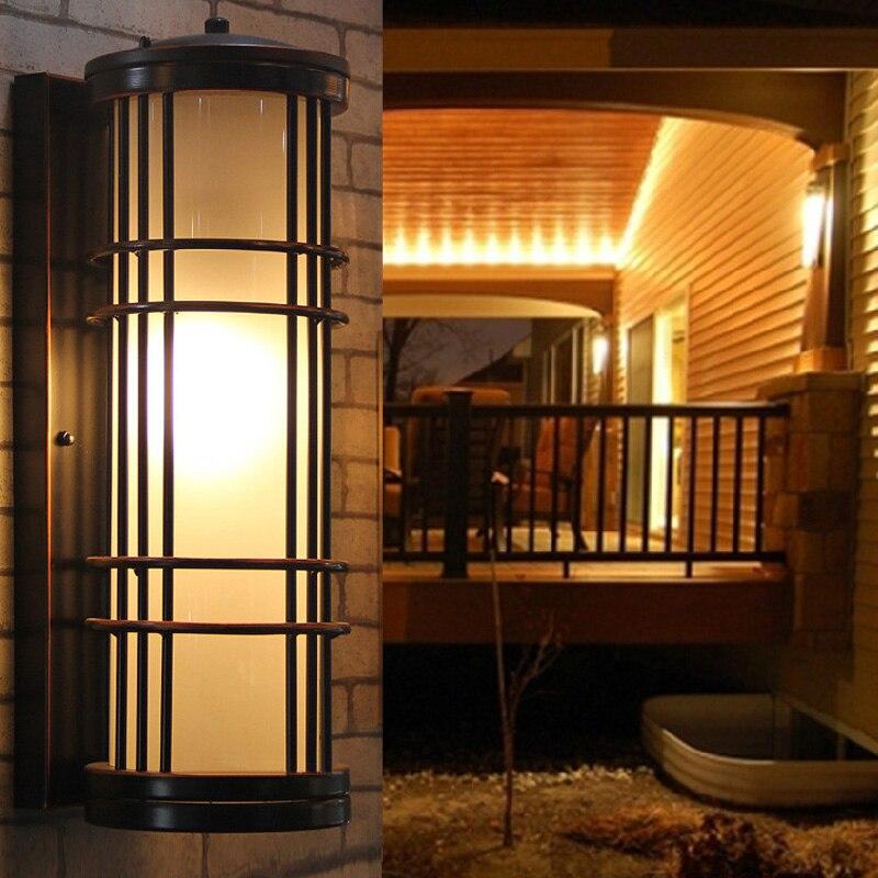 Applique murale extérieure clôture de jardin éclairage extérieur lampe de jardin étanche luminaires d'extérieur lampes d'arrière-cour lampes de balcon