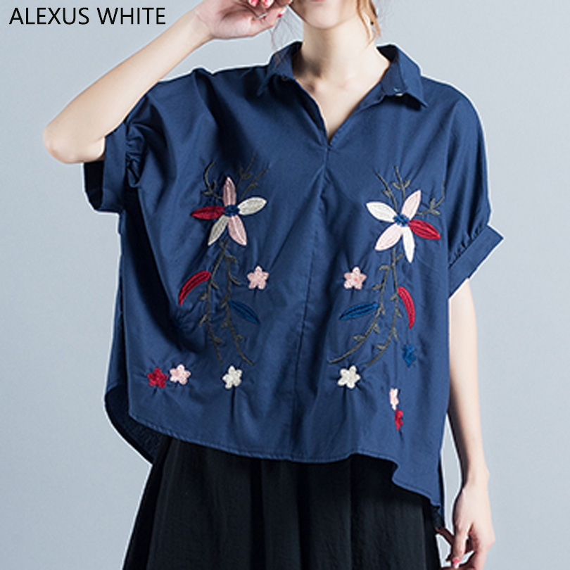 2017 Summer Cotton Linen font b Blouses b font font b Women b font Casual Loose