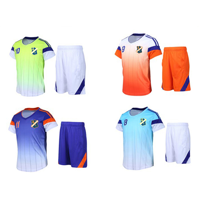 46ead3287b6f 2017 sports suit for girls tracksuits summer kids soccer jersey ...