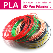 3d printed pen filament PLA/ABS 1.75mm 20 colors (5m/10m*color) perfect Creative 3d pens plastic Environmental safety materials