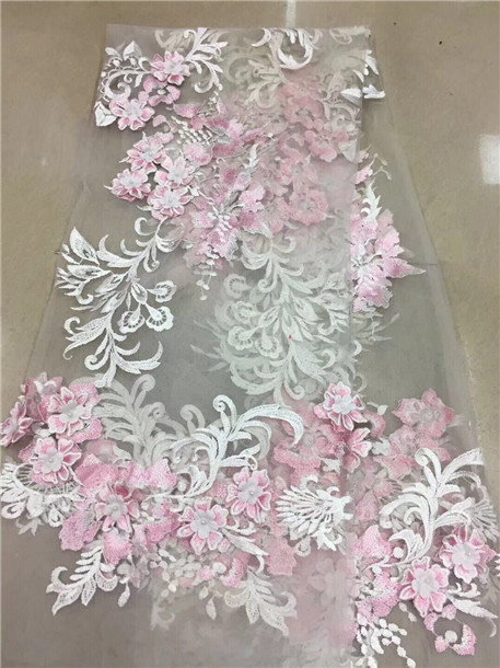 Kgk Gardening Landscape: 2018 African Lace Fabric Pink Wedding High Quality African