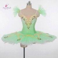 ירוק ריקוד בלט קלאסי טוטו ריקוד סולו בלט מקצועי טוטו פנקייק טוטו חצאיות טוטו לבלט למבוגרים בנות מותאם אישית
