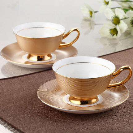 Luxury European Coffee Set Of British Bone China Single Product Ceramic Cuccino Cup Plus Disc In Saucer Sets From Home