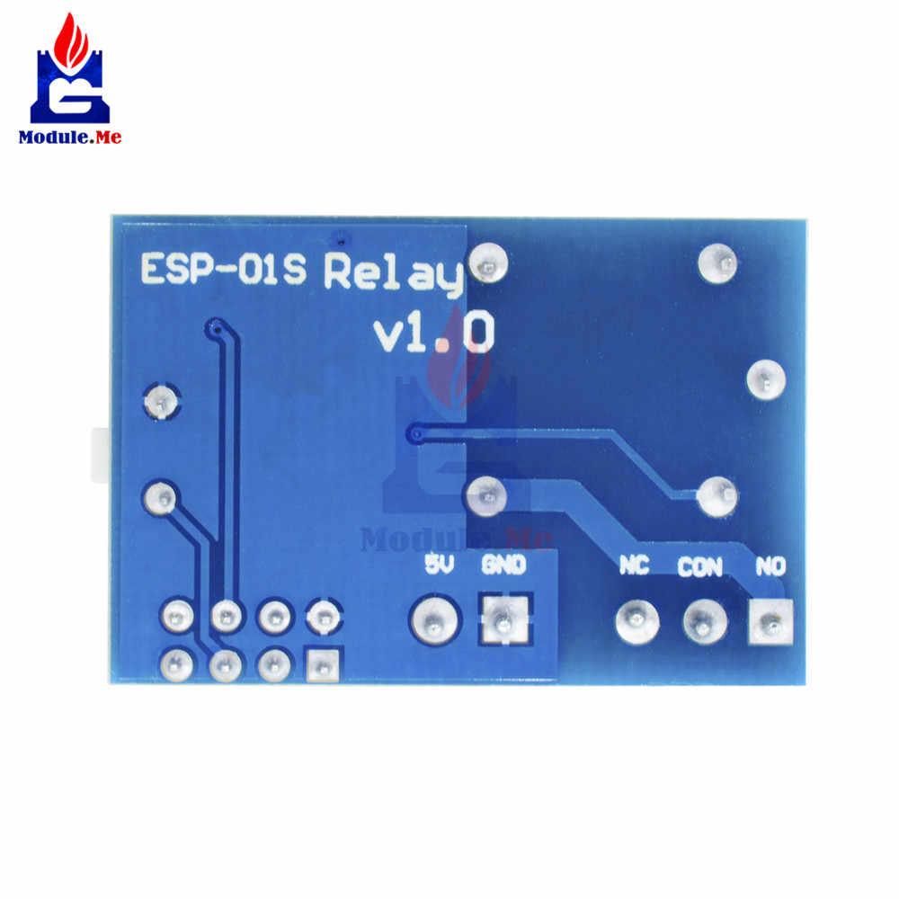 ESP8266 5 V 1CH moduł przekaźnika ESP-01/01 S WIFI moduł dla Arduino UNO R3 Mega2560 Nano Raspberry Pi inteligentnego domu bezprzewodowy przekaźnik pokładzie