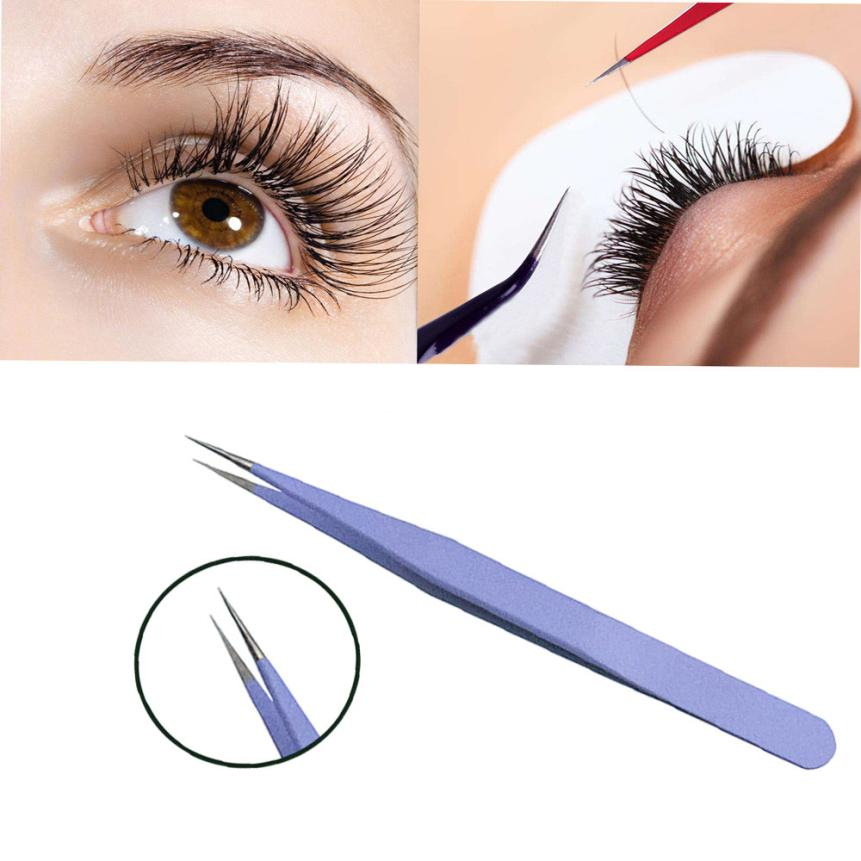 1pcs Anti-Static Stainless Steel Eyebrow Tweezers Eyelash Curler Clip Plucking Beauty Tools for ladies 2U1207