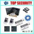 Acceso C3-200 control board fuente de alimentación protegen la caja conjunto con KR102 lector de tarjetas de ID con código de vestimenta y 280 KG EM Lock y botón de salida