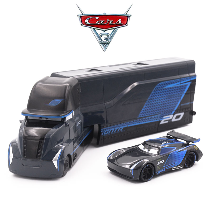 Disney Pixar Cars 3 Jackson Storm Hauler Jackson Storm alloy Toy Car model truck for children gift 1:55 brand toys NEW in stock цена