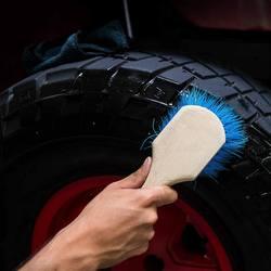 Новые короткие ручки колеса и щетка для шин специальный дизайн химически стойкие кисти синий Жесткий волос/зеленый мягкие волосы для авто