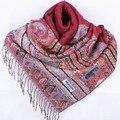 Мода Бургундии женщин Silk Пашмины Шали Шарф Обруча пчелы цветок Бесплатная Доставка Оптовая Торговля Розничная Торговля FF-XMF4