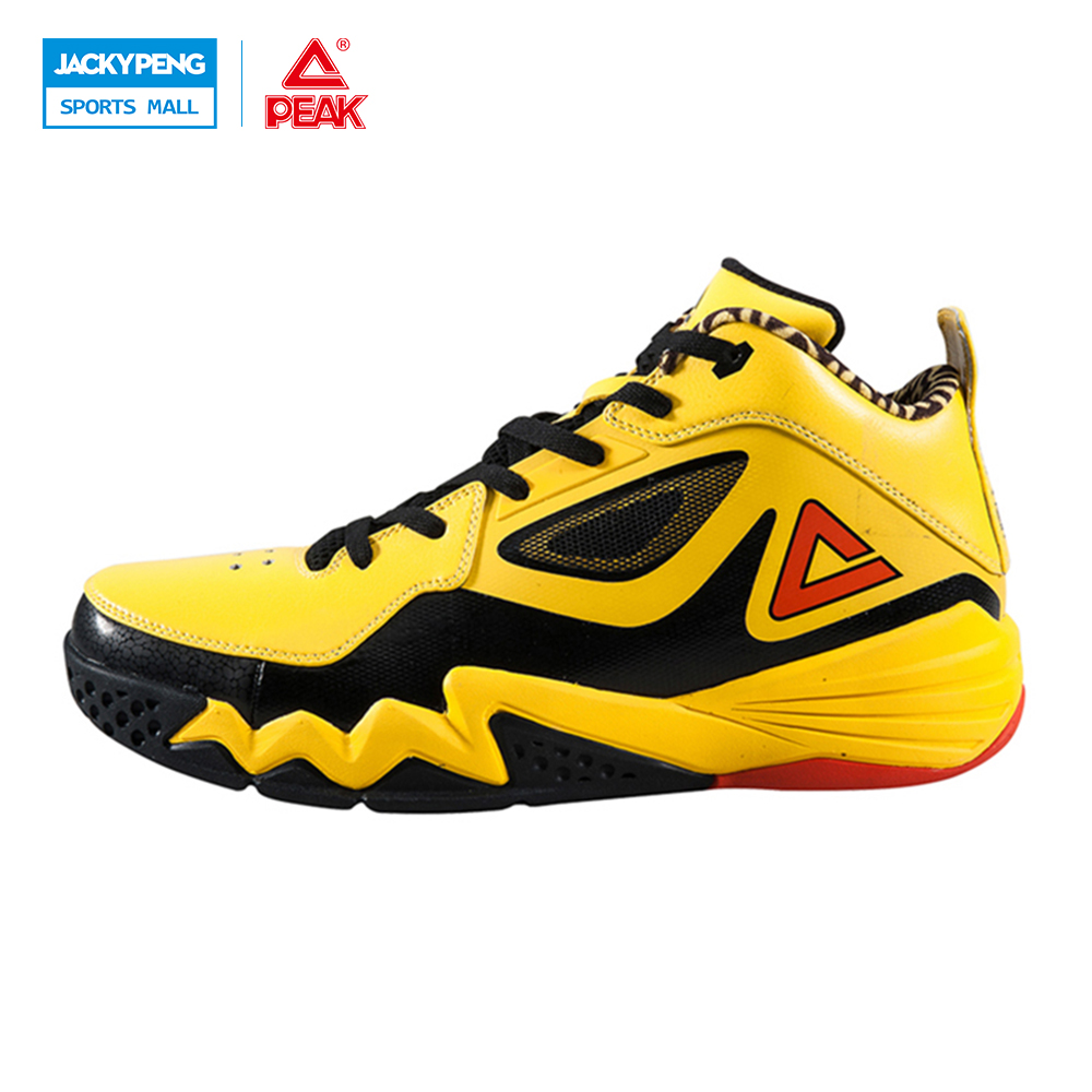 PEAK SPORT Monster II Men Basketball Shoes FOOTHOLD Tech Sneakers Breathable Training Athletic Durable Rubber Outsole Boots peak sport star series george hill gh3 men basketball shoes athletic cushion 3 non marking tech sneakers eur 40 50