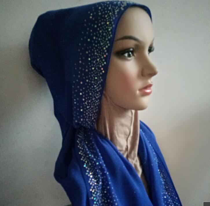 bling stone   scarf     wrap   hijab bubble chiffon 180*72cm shimmer glittery   scarf   hijab shawl fashion