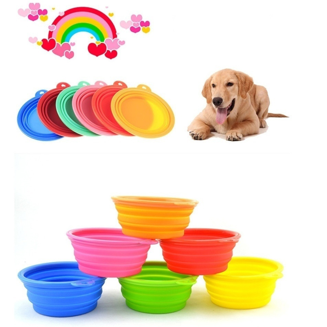Uncategorized Cute Dog Bowl aliexpress com buy foldable portable dog bowl cute silicone collapsible folding pet travel cat feeding water