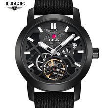 Watches Men Luxury Brand LIGE Men s Fashion Casual Automatic Watch Man Dive 50M Military Leather