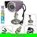 """5 UNIDS/LOTE 1/4 """"Sharp CCD 420tvl Exterior De Aleación De Aluminio CCTV Cámara, 36 IR LED de Visión Nocturna Resistente Al Agua para Vigilancia de la seguridad"""