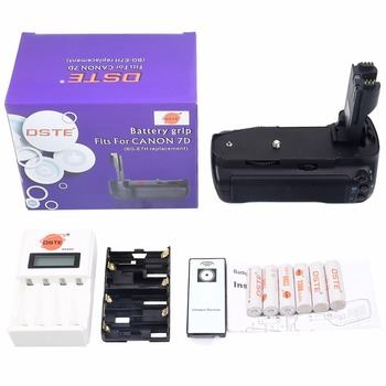 DSTE BG-E7 Battery Grip + Remote Control + 6-pack Rechargeable Batteries NI-MH AA battery + Charger for Canon 7D DSLR Camera
