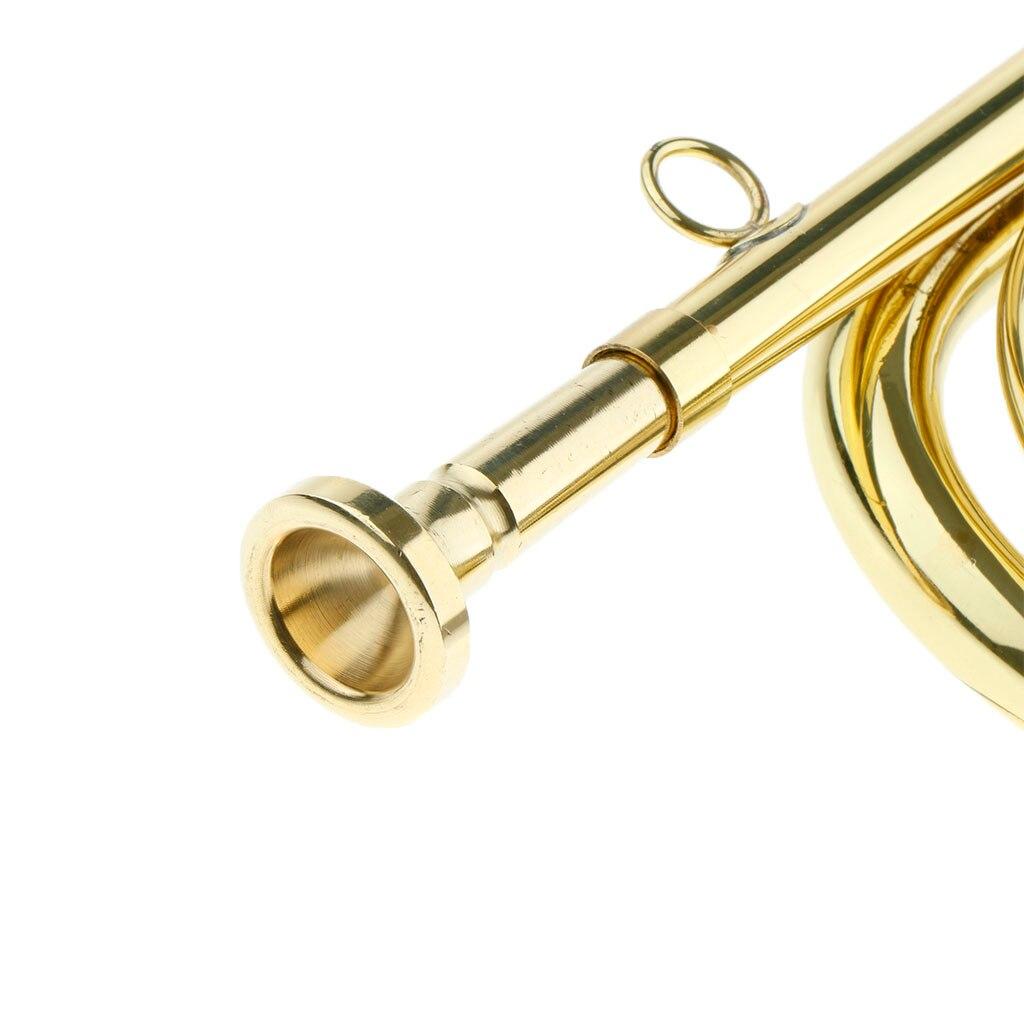 Tooyful Изысканная группа школы представление кавалерийская труба марширующая Стеклярус латунный инструмент