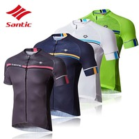 Santic Cycling Jersey 2018 MTB Road Bike Bicycle Jerseys Men Breathable Quick Dry Tour De France Cycling Clothing Ropa Ciclismo