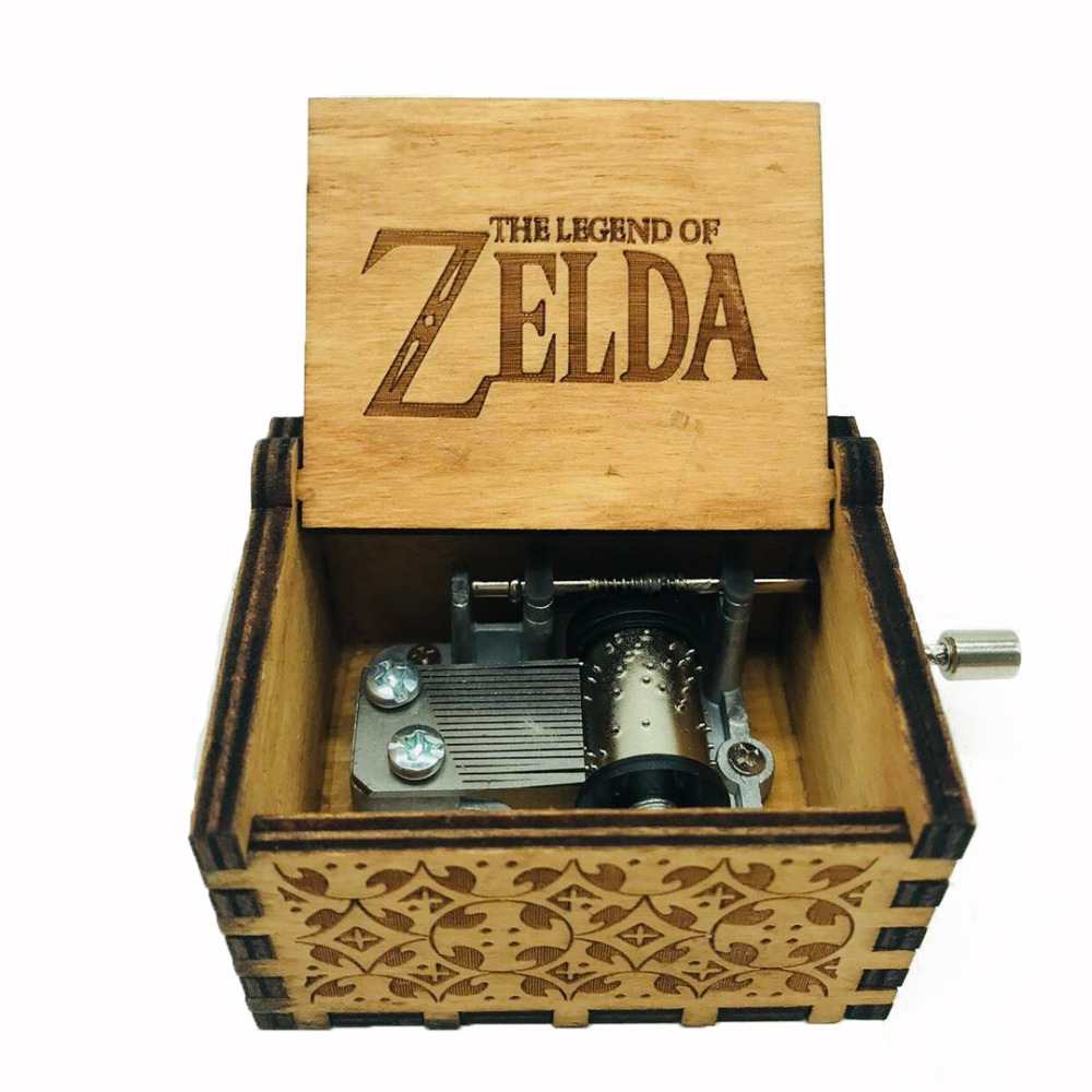 The Legend of Zelda Music box Anonymity Antique Carved wooden hand crank Musical boxes Christmas birthday gifts Caixa De Musica antique carved wood star wars game of thrones music box hand crank theme music welcome to sell friends cooperation