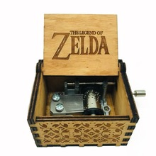 The Legend of Zelda Music box Anonymity Antique Carved wooden hand crank Musical boxes Christmas birthday