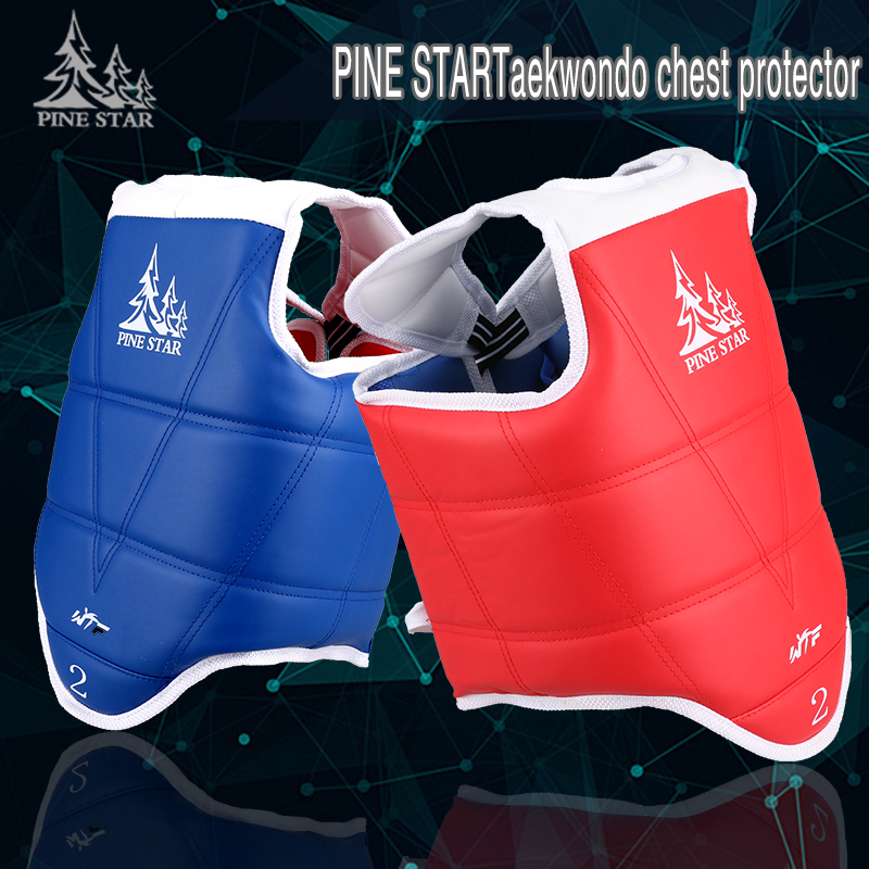 Best quality Traditional Taekwondo chest guard kids adult student red blue Karate protectors TKD WTF approved chest supporters