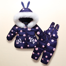 2018 Girls Winter Clothing Sets Warm Parka Down Jacket for Baby Girl Clothes Children's Coat Snow Wear Kids Outerwear Suits все цены