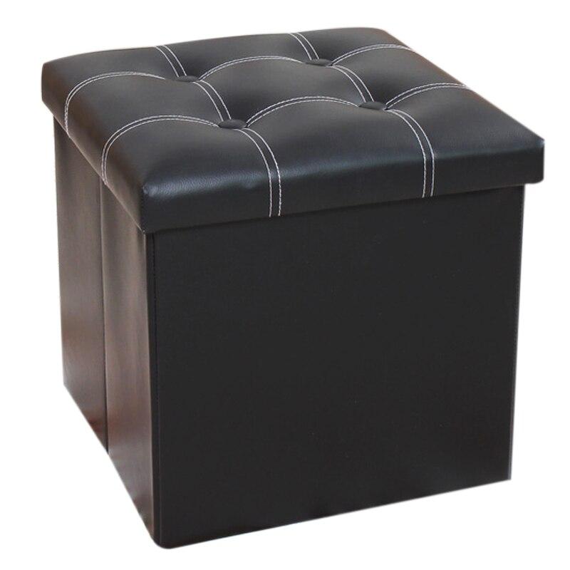 Best Single Ottoman PU Leather Stool Folding Seat Chest Foldable Storage  Box Foot (Black, Single B(38*38*38cm)) - Online Get Cheap Ottoman Storage Box -Aliexpress.com Alibaba Group