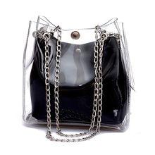 DCOS Women Small Bucket Bags Plastic Transparent Totes Composite Chain Bag Female Mini Jelly Handbags