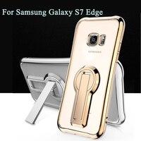 Eleoption Souple TPU Caoutchouc Gel Silicone Cover Case Béquille Pour Samsung Galaxy S7 Bord