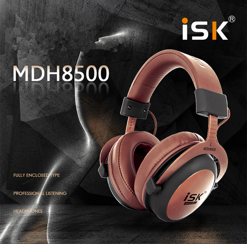 Original Headphone MDH8500 Hifi Stereo Dynamic Professional Fully Enclosed Monitor Headphone Studio Audio Earphone DJ Headset