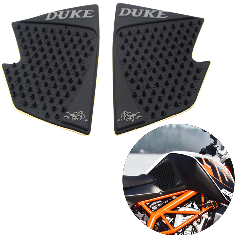 For KTM Duke 390 200 2012 2013 2014 2015 2016 Moto Parts Tank Pad Protector Sticker Decal Gas Knee Grip Tank Traction Pad Side bjmoto for ktm duke 390 200 125 motorcycle tank pad protector sticker decal gas knee grip tank traction pad side