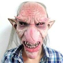 Лидер продаж Для Мужчин Латекс Маска гоблины большой нос Ужасы Маска Жуткий костюм партии Косплэй реквизит страшно маска для Хэллоуина террор