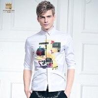무료 배송 새로운 남성 여름 캐주얼 패션 남성 반 소매 셔츠 밑단