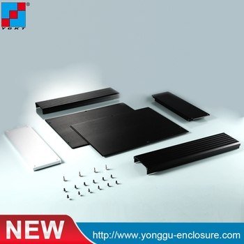 220*67-280 mm (WxH-D)1.5U Full Aluminum Enclosure Mini Case Preamp Box Audio Amplifier Chassis New