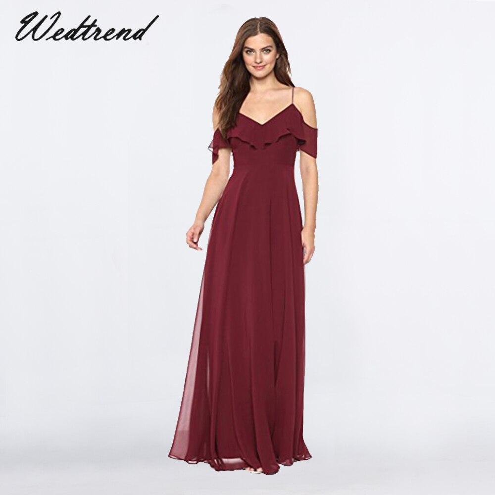 Abiti Da Cerimonia Vintage.Wedtrend Burgundy 2019 Prom Dress Vintage Long Evening Dresses