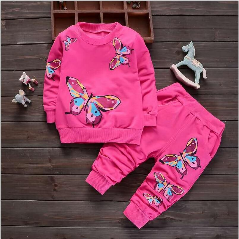 BibiCola Autumn Baby Girls Clothes Sets Kids Cute Cartoon Clothing Sets Toddler Princess Outfit Costume Children Girls Clothing цена 2017