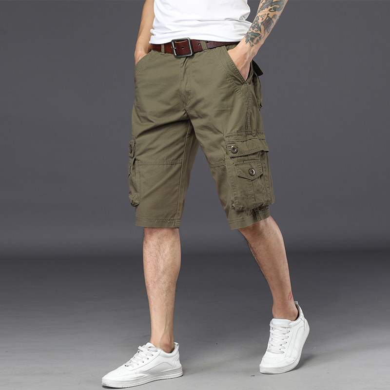 NIGRITY 2018 New Summer joggers Cargo Shorts Men Loose mens Military Trousers Size Casual Man Short Pants