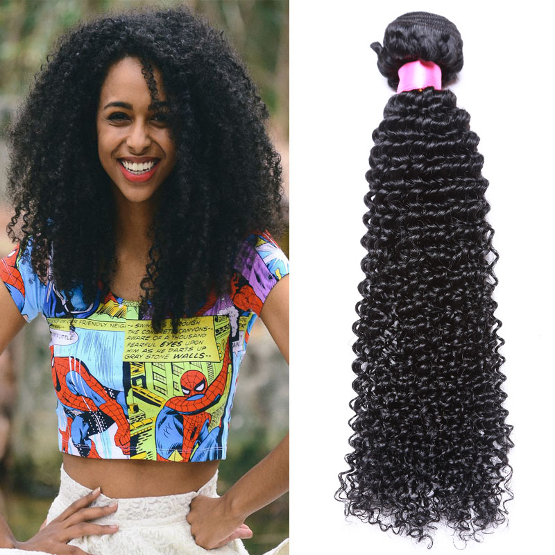 Pineapple Wave Hair Indian Kinky Curly 3pcs Virgin Remy Human Hair