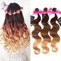 Kunna ProductsOmbre Malasia Virgin Hair Body Wave Ombre Hair 1 Bundles Malasia 7A Ombre Armadura Virginal Extensión Del Pelo