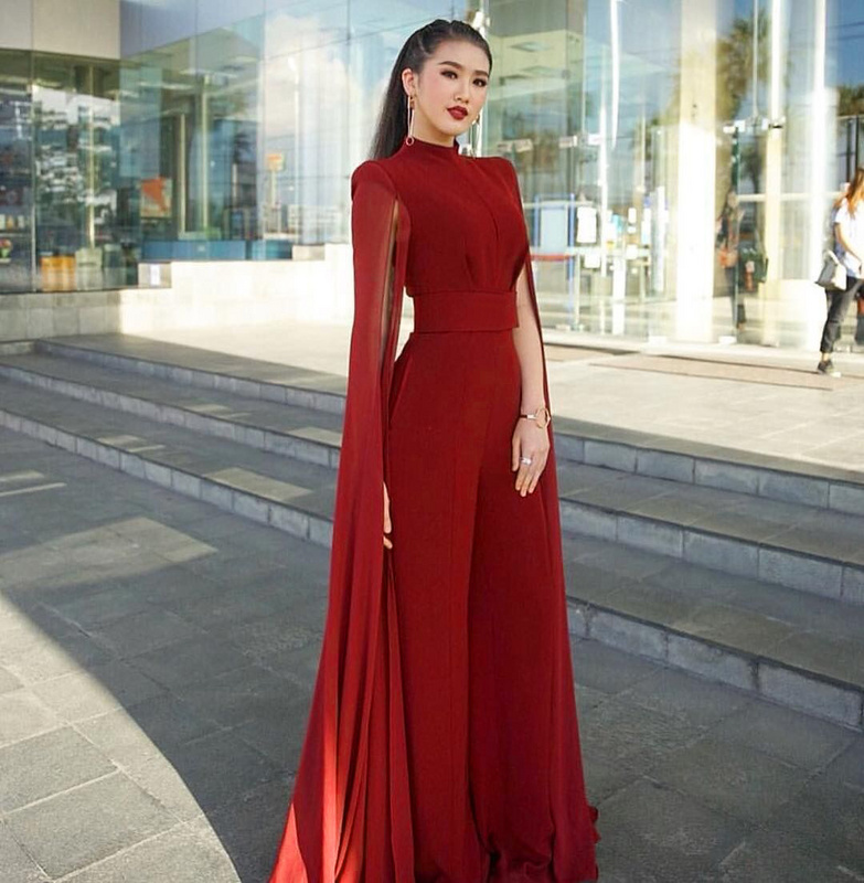 928568ac754 Detail Feedback Questions about 2018 new woman Jumpsuits Nightclub  socialite birthday party fashion sexy package hip leisure gauze shawl Wine  red black on ...