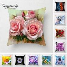 Fuwatacchi чехол для подушки с цветком, разноцветные розовые подушки с подсолнухом, чехол для автомобиля, дома, гостиной, декоративная наволочка, новинка