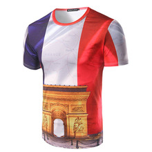 New 2016 mens t shirt fitness 3D printed t shirts tshirt homme casual camisetas hombre fashion